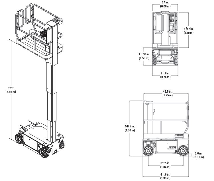 JLG 1230ES spec sheet image 1