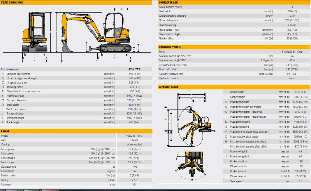 jcb 8026 cts - charleville plant, access and tool hire